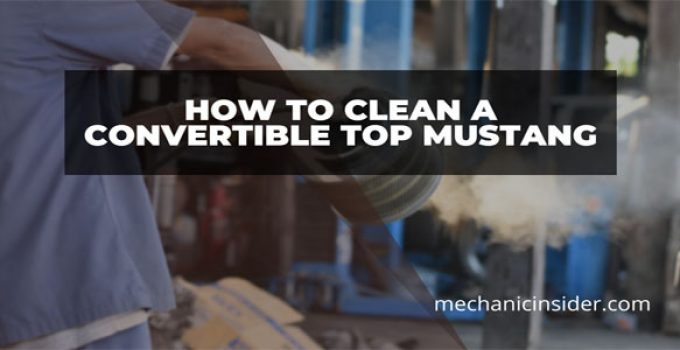 How to Clean a Convertible Top Mustang – Steps With Do's & Don'ts For The Mustang Hunks!